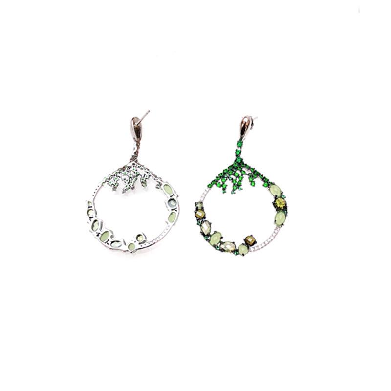Pretty Cubic Zirconia 925 Sterling Silver Earrings for Woman 82708