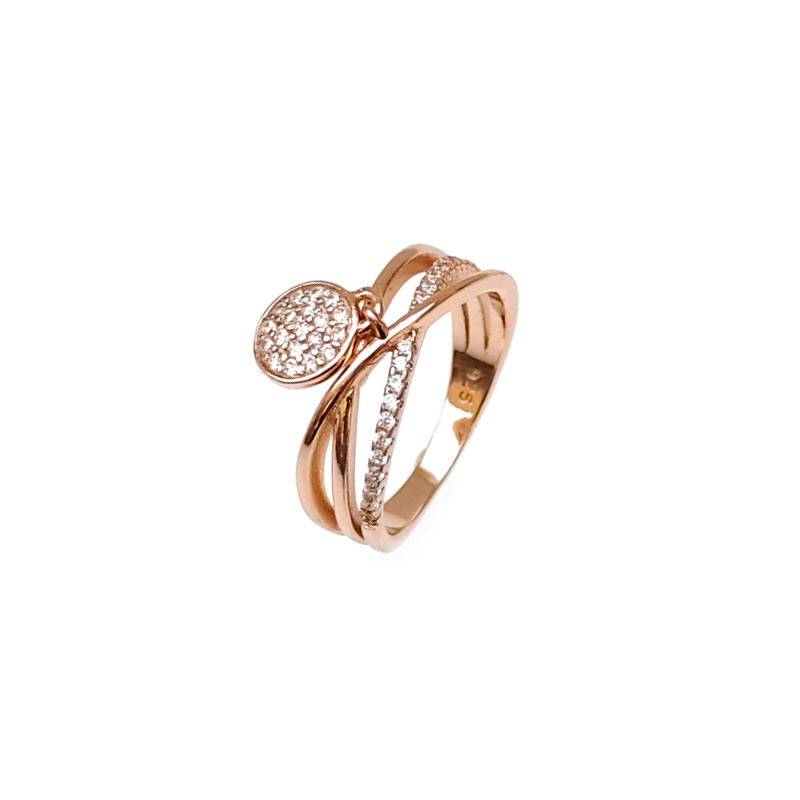 Custom 925 Sterling Silver with Rose Gold Plated Rings for Woman 85350R
