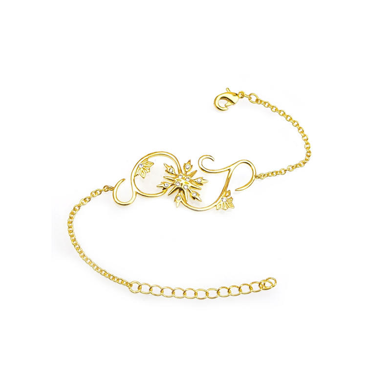 Disney Dainty 925 Sterling Silver Crystal Bracelets with Gold Plated for Ladies 86701TW