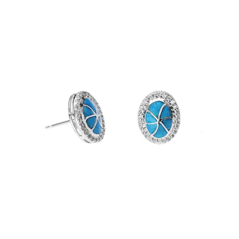 Best Price Elegant 925 Sterling Silver Earrings CZ with Rhodium Plating 300975 Wholesale