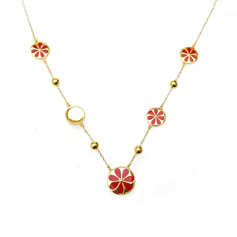 Custom Special Chain 925 Sterling Silver Flower CZ Necklace for Woman 71837 Factory From China