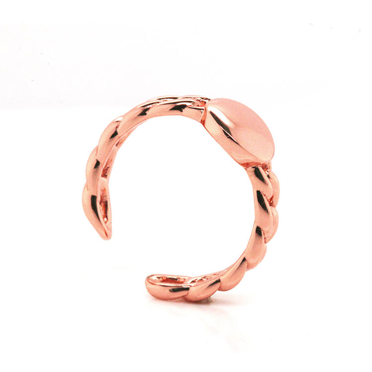 China Minimalist 925 Sterling Silver Ring with Rose Gold Plating 102202 Wholesale-Kirin
