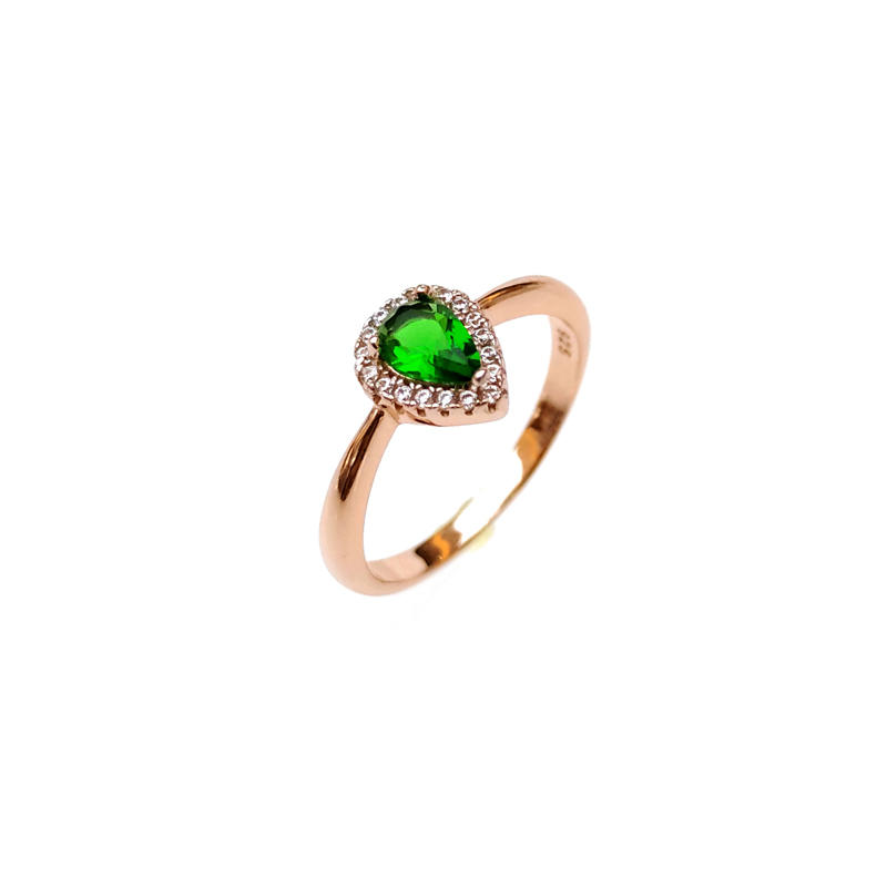 Best Price Elegant 925 Sterling Silver CZ Ring with Rose Gold Plated for Woman 85347