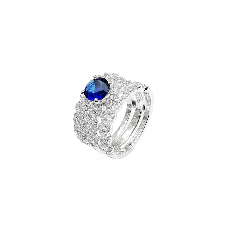 Customized OEM Engagement 925 Sterling Silver Women's Cubic Zircon Ring 103397 From China