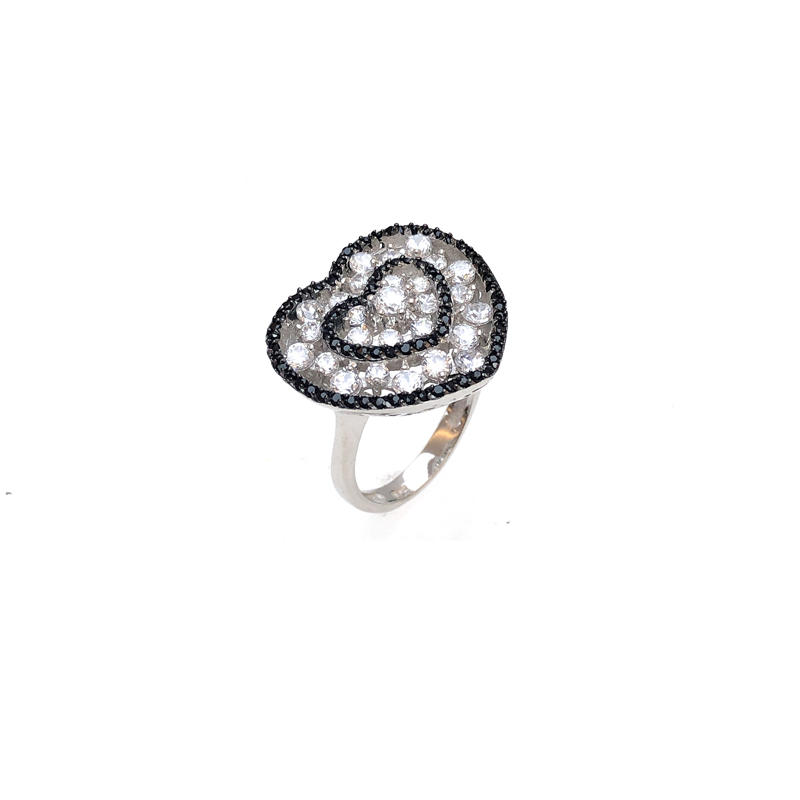 Factory Price Love 925 Sterling Silver Ring with Gold Plated for Woman 80282R Wholesale-Kirin