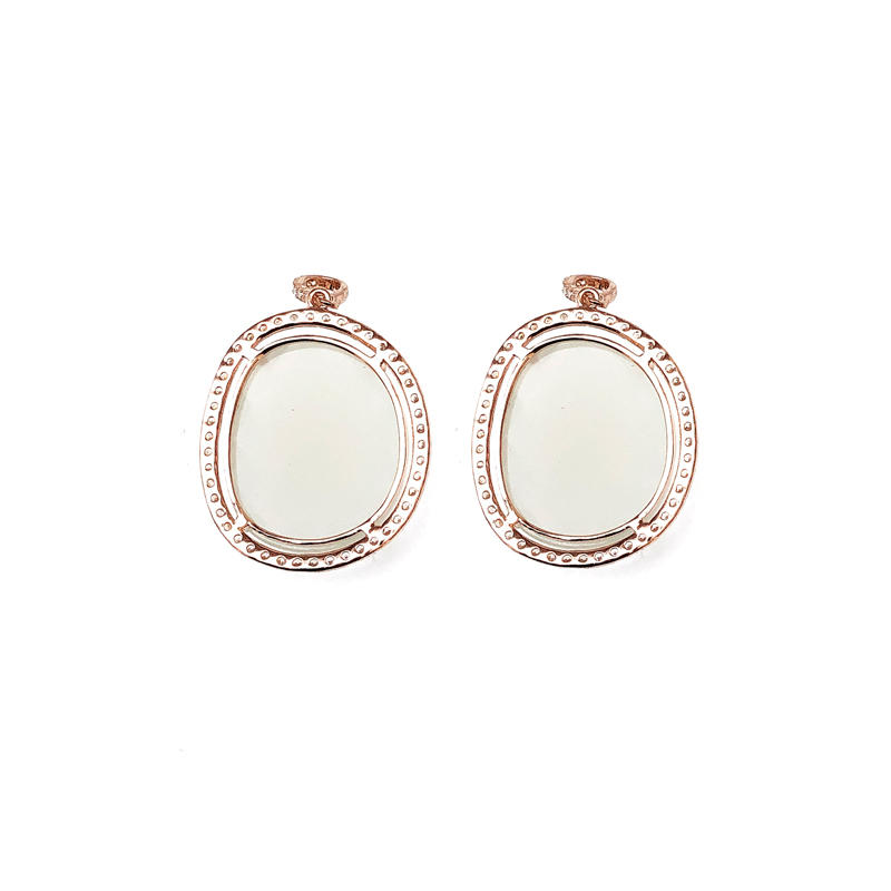 OEM Charm 925 Sterling Silver Earrings with Gold Plated for Woman 80660E