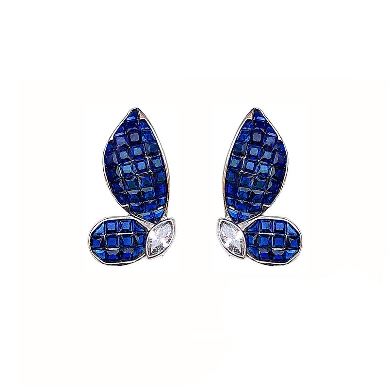 Top Quality Butterfly 925 Sterling Silver CZ Earrings for Woman with Rhodium Plating Factory 85553EW