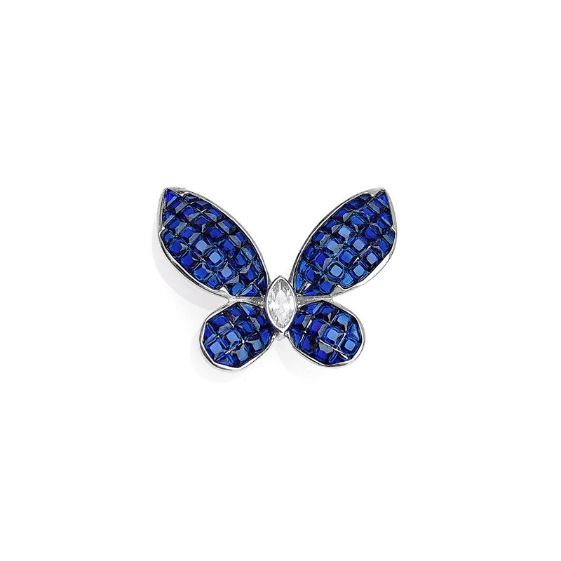 Stylish Butterfly Invisible Setting Item 925 Sterling Silver CZ Pendant for Woman 85553PW