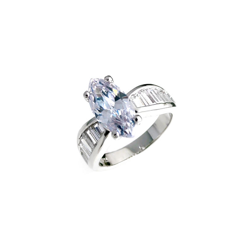 Best Quality Sparkle Engagement 925 Sterling Silver Cubic Zirconia Rings for Woman 107278 Oem-Kirin