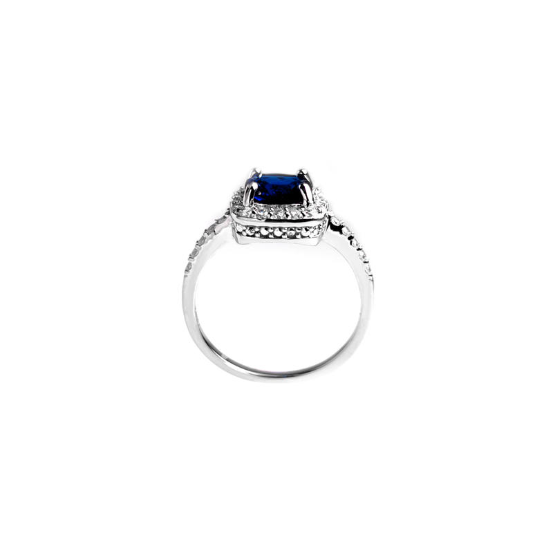 OEM Engagement 925 Sterling Silver CZ Ring with Rhodium Plating for Woman 86949RW