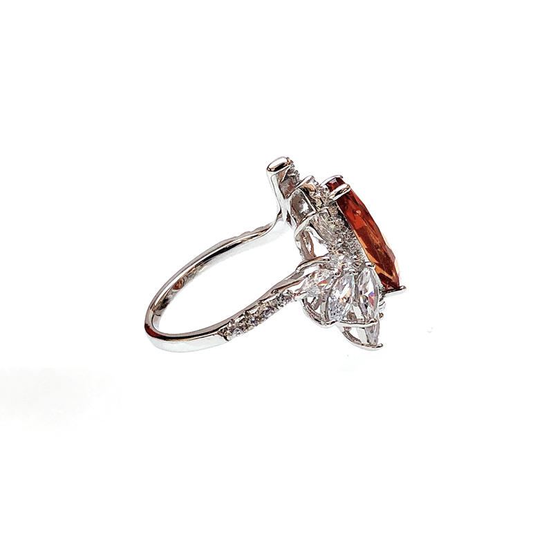 Professional Elegant Custom 925 Sterling Silver CZ Ring with Rhodium Plated for Woman 102826 Factory From China-Kirin