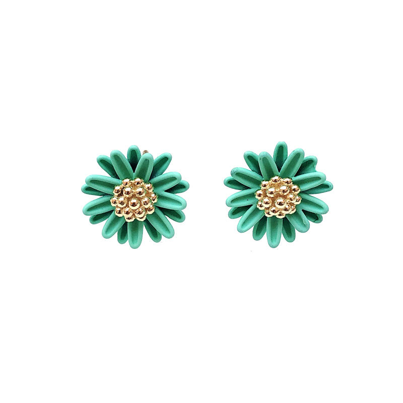 Fashion Stylish Custom Flower 925 Sterling Silver Earrings with Gold Plated for Woman 37273