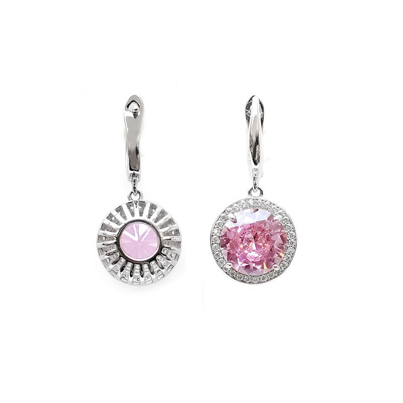 Elegant OEM 925 Sterling Silver CZ Custom Earrings with Rhodium Plated for Woman 83639