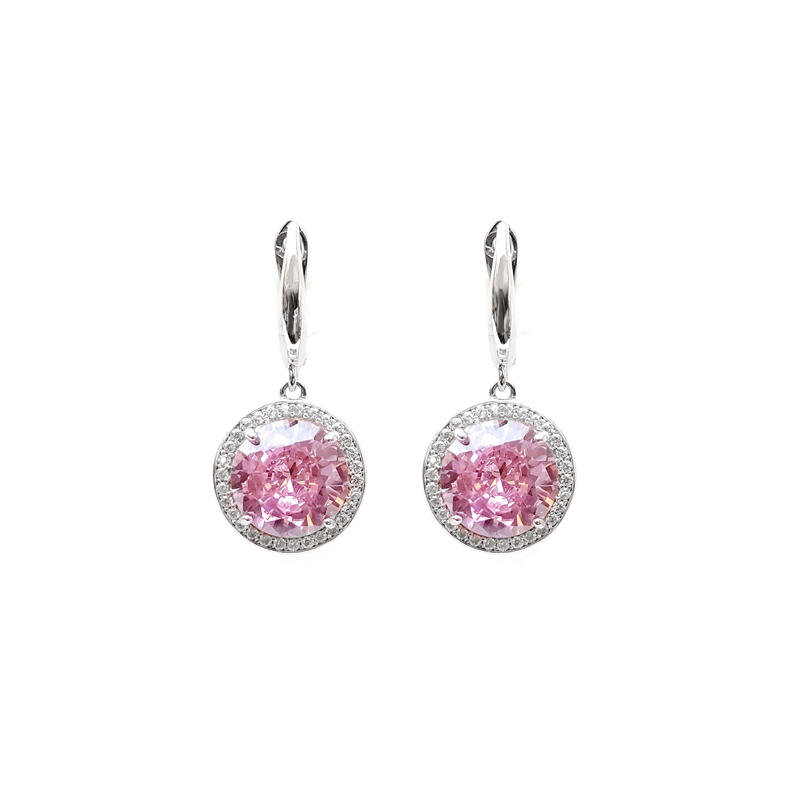 product-Kirin -Elegant OEM 925 Sterling Silver CZ Custom Earrings with Rhodium Plated for Woman 8363