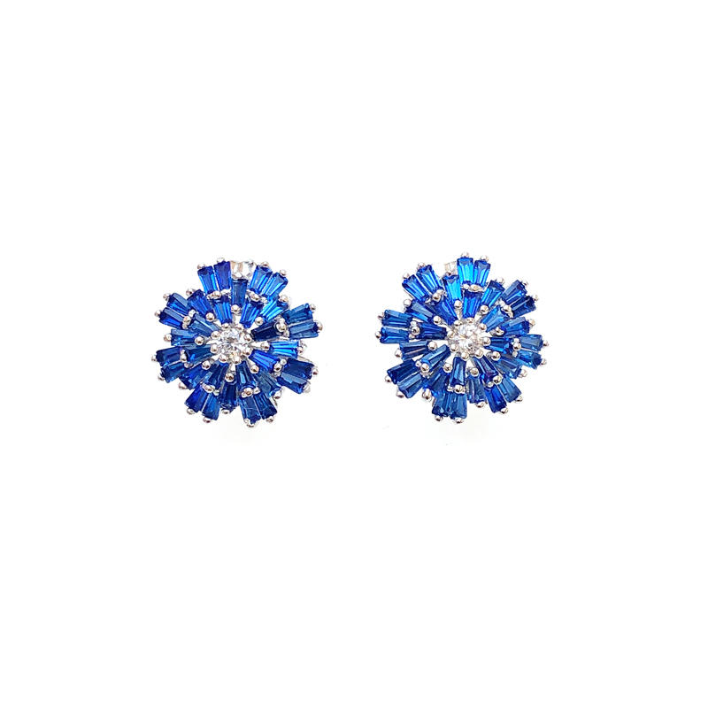 Best Price Pretty Customized 925 Sterling Silver CZ Earrings with Rhodium Plated for Woman 82833EW Supplier-Kirin