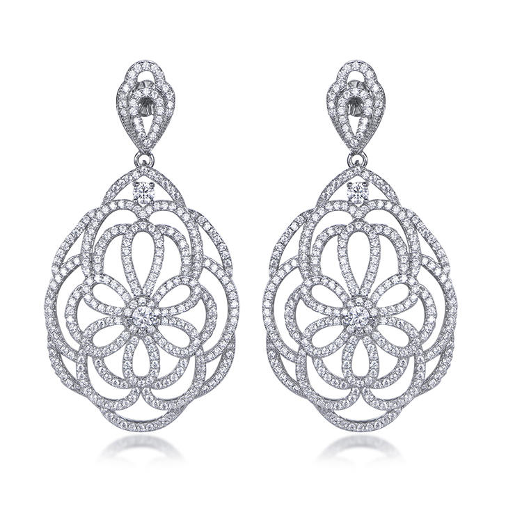Factory wholesale dubai royal style luxury earrings can be customized