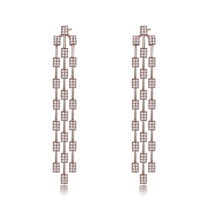 European style long tassel earrings charming party earrings