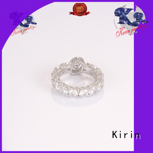 Kirin attractive sterling silver band rings factory price for mate