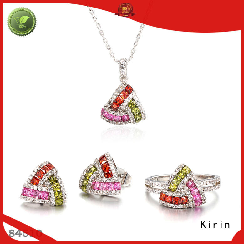 Kirin Latest silver rainbow necklace with many colors for girlfriend