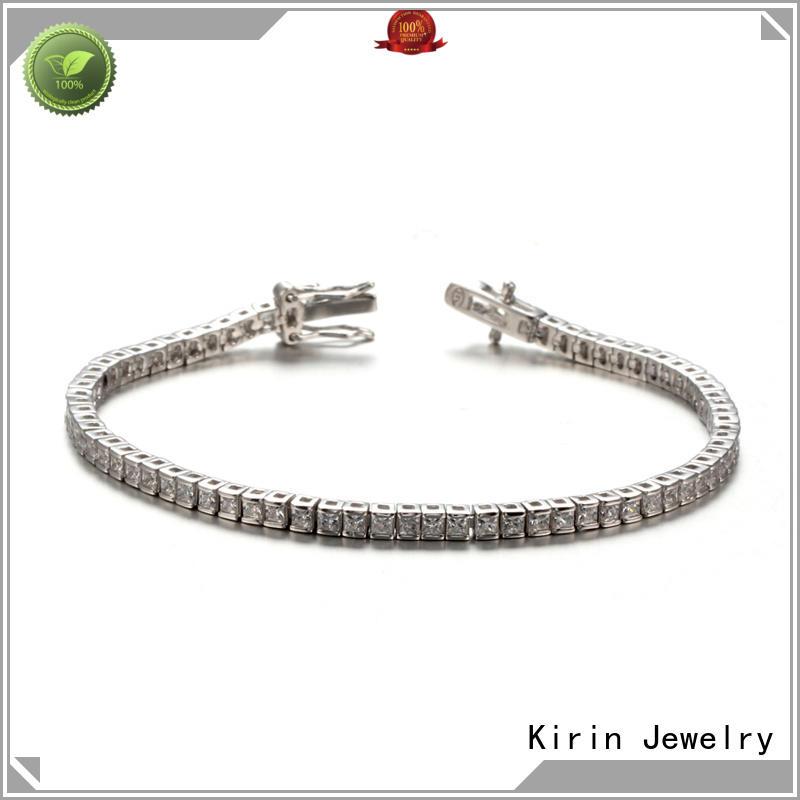 Women Princess Cut Cubic Zirconia Classic Tennis Bracelet 61947 Kirin Jewelry