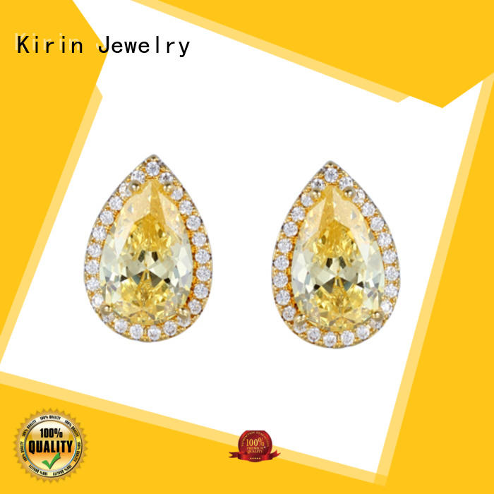 party silver flower earrings gift for girlfriend Kirin Jewelry