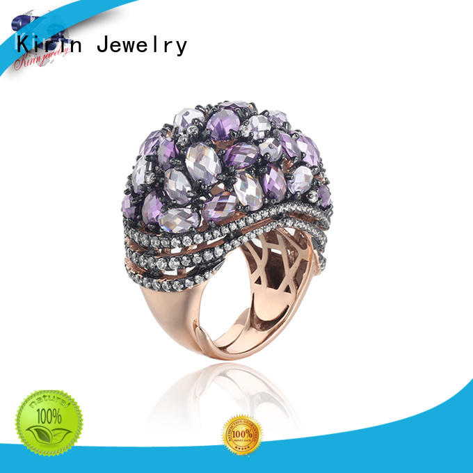 stone ladies plain silver ring 103569 for family Kirin Jewelry