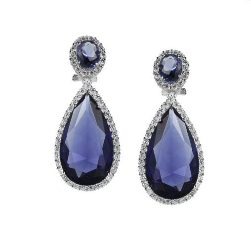 gemstone earrings chic for lover Kirin Jewelry-1