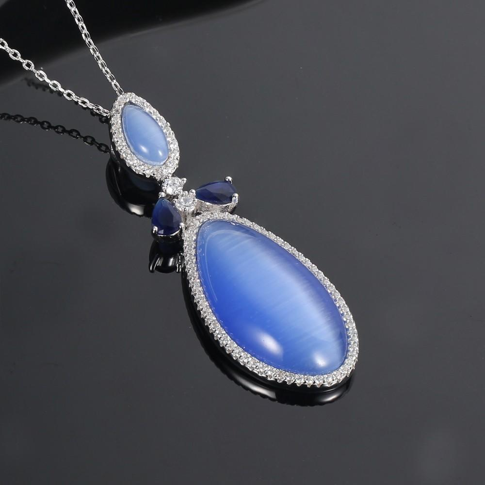 Kirin Jewelry -Professional Fine Jewelry Sets Pendant Necklace And Earring Set Supplier