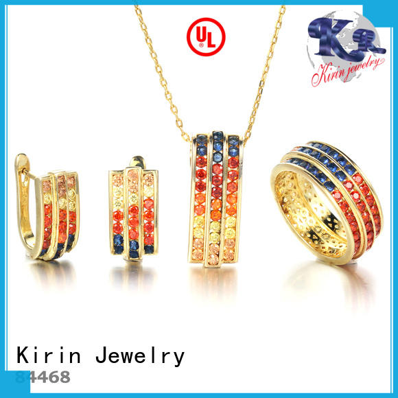 gorgeous diamond necklace and earring set colorful factory price for lover