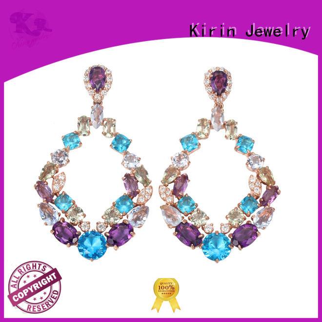 sterling silver hoop earrings small gold for female Kirin Jewelry