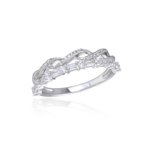 Kirin Jewelry -Find Zircon Bracelet Round Baguette Cubic Zirconia Band 925 Sterling