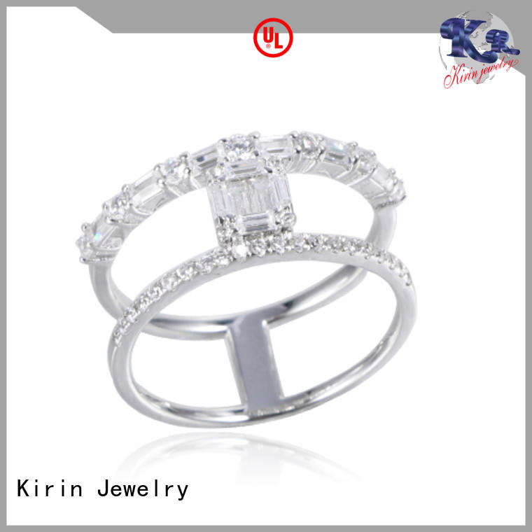 Kirin sizes adjustable silver rings producer for family
