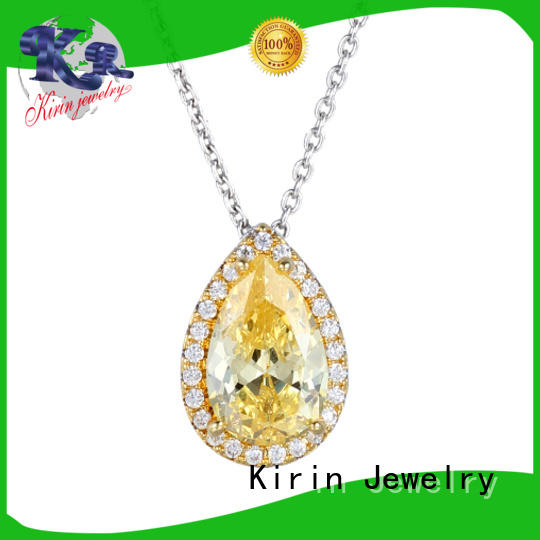 zircon 925 silver necklace inquire now for lover Kirin Jewelry