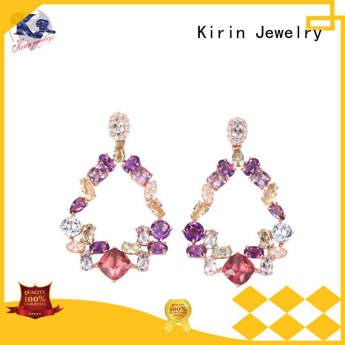 Hot kirin 925 sterling silver earrings jewelry engagement Kirin Jewelry Brand
