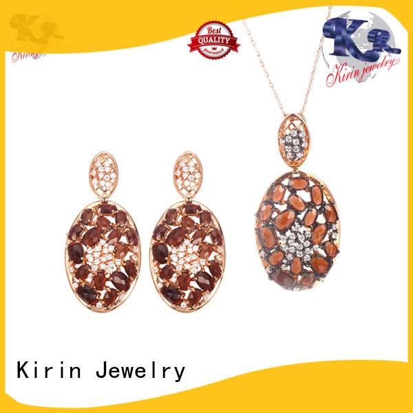 prong 925 sterling silver jewelry sets eternity eye Kirin Jewelry company