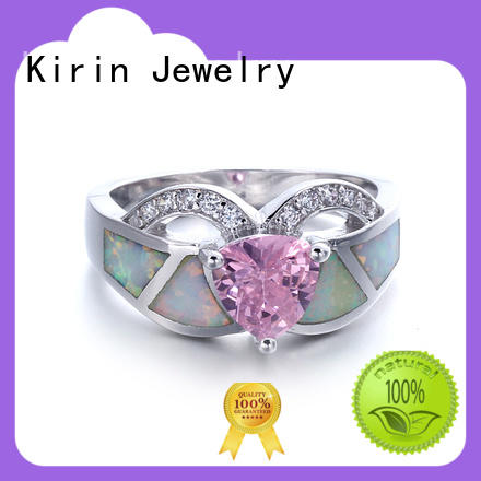amazing silver rings color for lover Kirin Jewelry