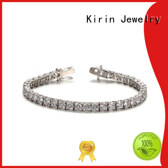 Kirin Jewelry Brand open cut simple silver bracelet party supplier