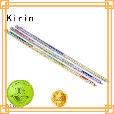 Kirin earrings rainbow golden ring with many colors for girlfriend