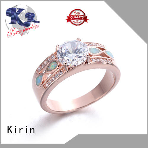 Kirin jewellry sterling silver flower ring bulk production for mate