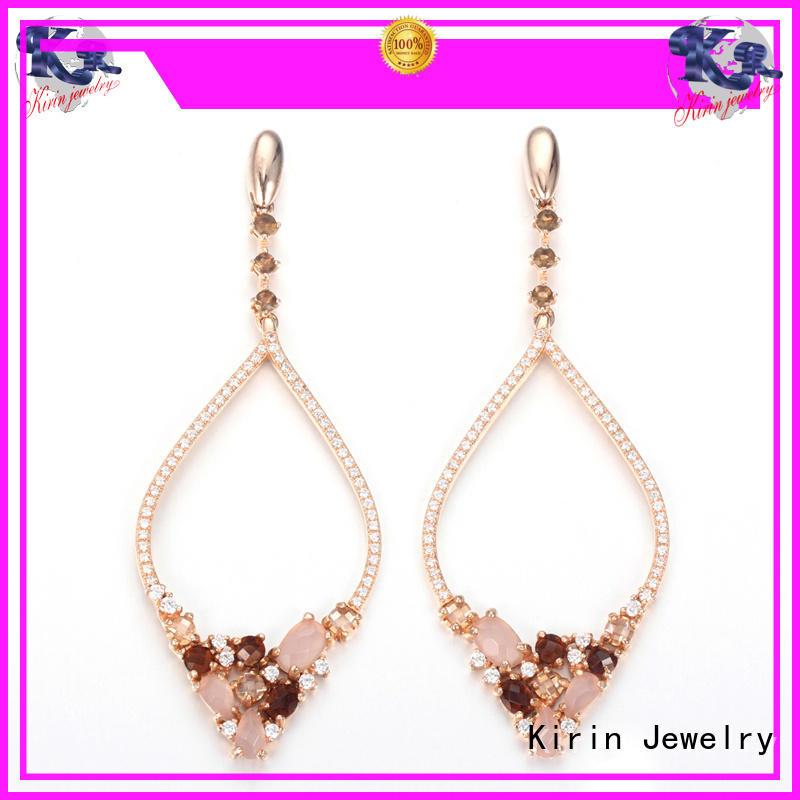 Kirin kirin rose gold earrings by Chinese manufaturer for mate