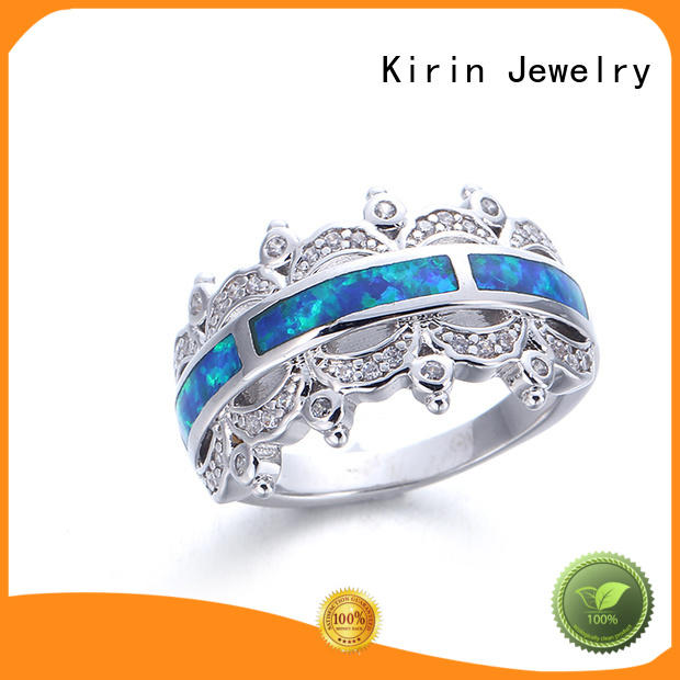Kirin Jewelry wide ladies plain silver ring from China for lover