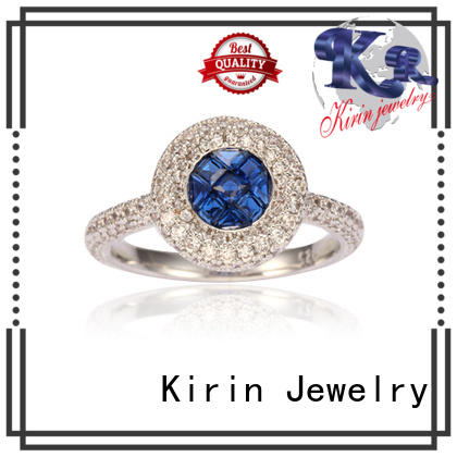 Kirin newly women's wide band silver rings with good price for girlfriend