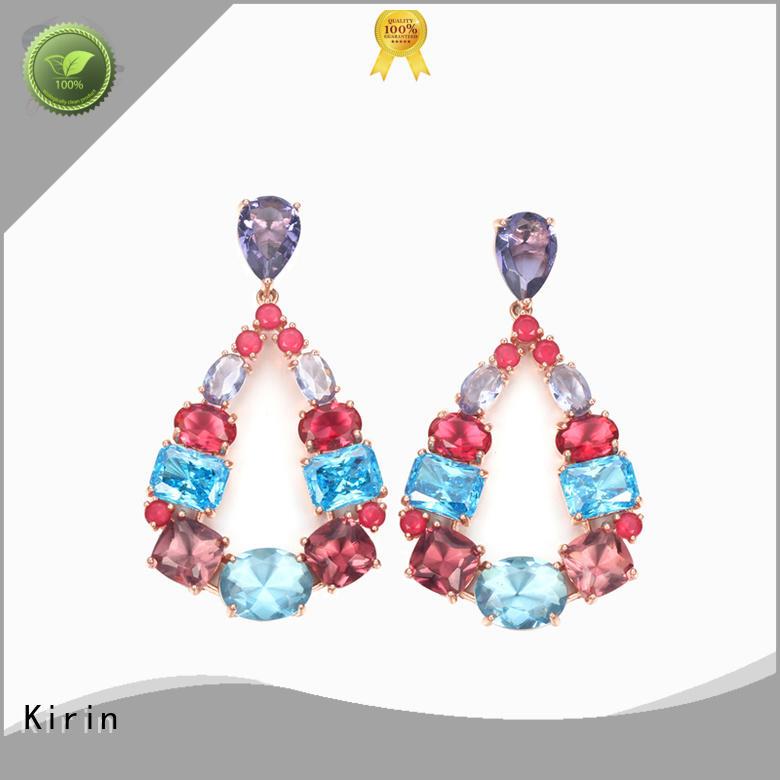 Kirin superb flat stud earrings free design for woman