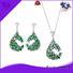 925 sterling silver wedding sets emerald bangle 925 sterling silver jewelry sets Kirin Jewelry Brand