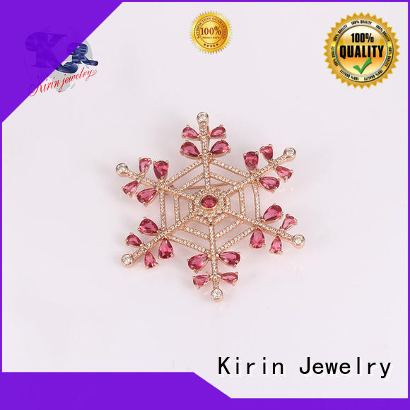 stone 925 sterling silver brooch ladies for partner Kirin Jewelry