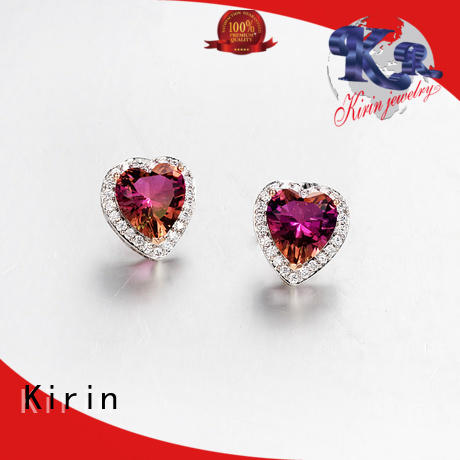 Kirin gorgeous sapphire jewelry earrings with cheap price for partner