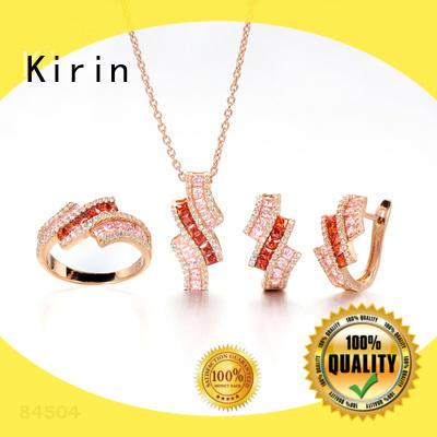 Kirin eternity ring necklace bracelet set factory price for girlfriend