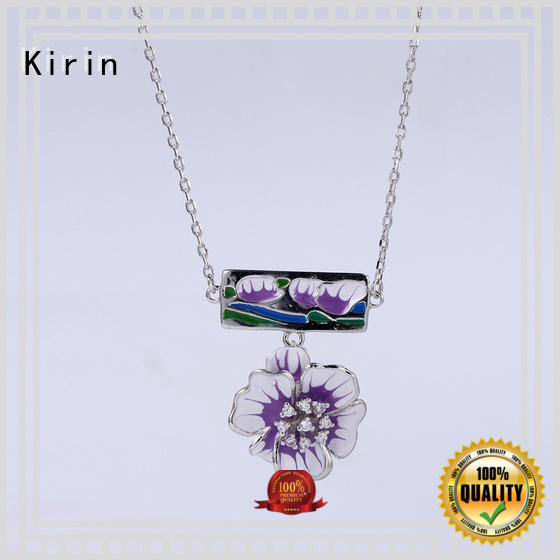 Kirin mixcolor 925 silver necklace set free quote for female