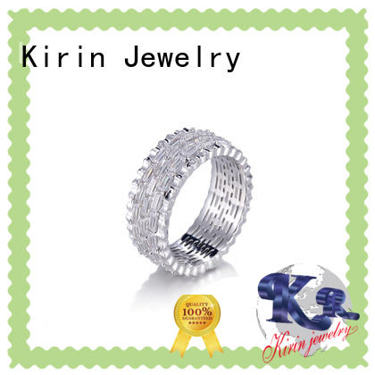 Kirin plated adjustable silver rings China manufacturer for mate