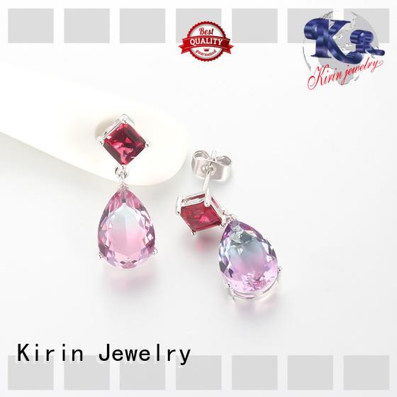Promise Women Wedding Pear Cubic Zirconia CZ 925 Sterling Silver Dangle Drop Earrings Jewelry 39043